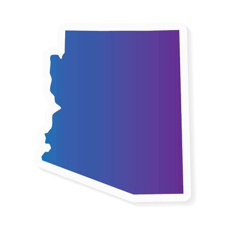 gradient Arizona map- vector illustration
