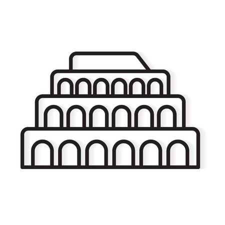 colosseum building landmark icon- vector illustration Vector Illustration