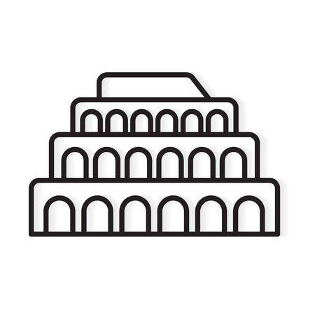 colosseum building landmark icon- vector illustration