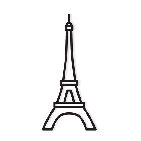Eiffel tower Paris icon- vector illustration