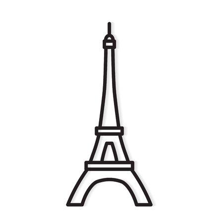Wieża Eiffla Paryż ikona wektor ilustracja