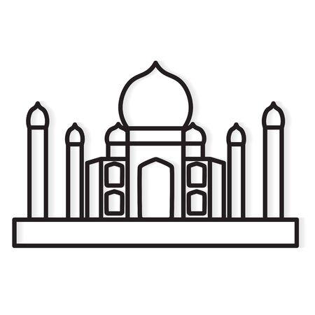 Leaning Tower, Pisa, Italy landmark icon- vector illustration