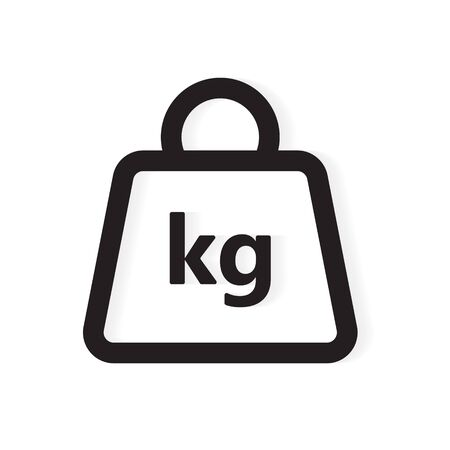 kg weight icon- vector illustration