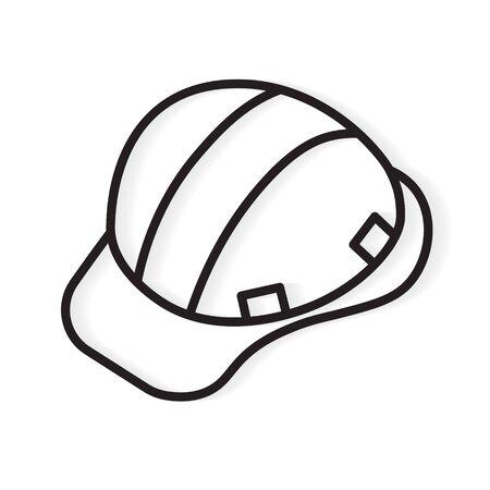 construction helmet icon- vector illustration  イラスト・ベクター素材