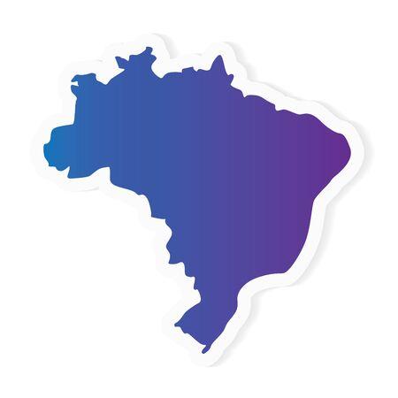 gradient Brazil map- vector illustration 일러스트