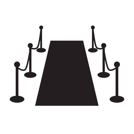 red carpet event icon- vector illustration