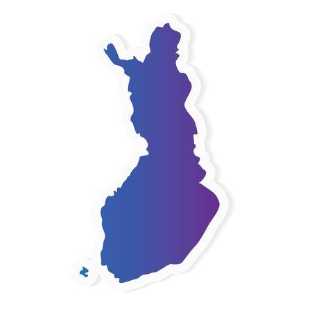 Finnland Karte mit Farbverlauf - Vektorillustration Vektorgrafik