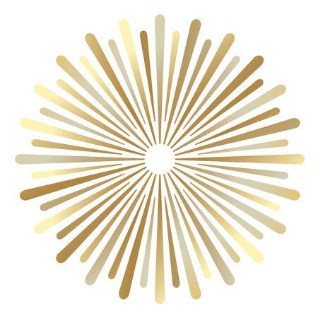 golden sunburst background- vector illustration