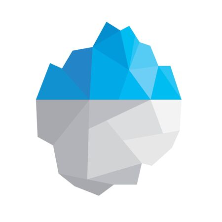 floating iceberg icon- vector illustration  イラスト・ベクター素材
