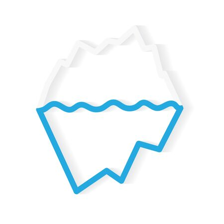 floating iceberg icon- vector illustration Иллюстрация