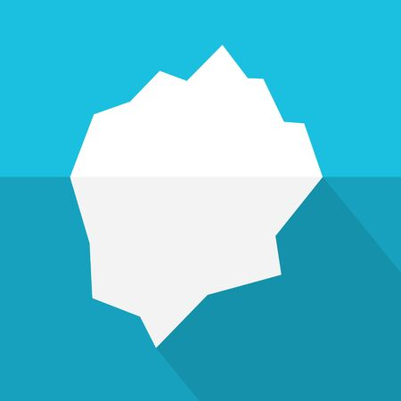 floating iceberg icon- vector illustration Imagens - 131422384