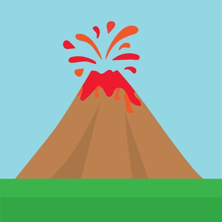 erupting volcano icon- vector illustration 일러스트