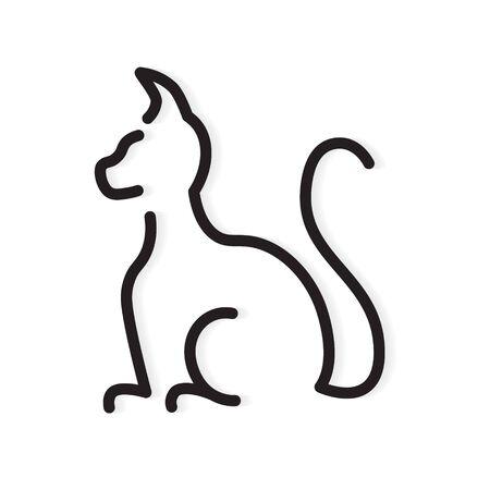 black cat icon- vector illustration Иллюстрация