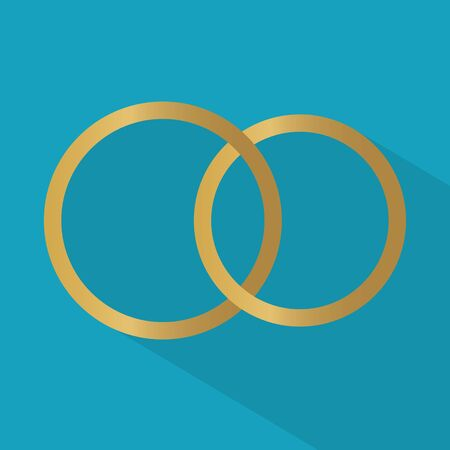 wedding rings icon- vector illustration