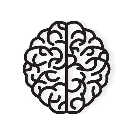 human brain icon - vector illustration