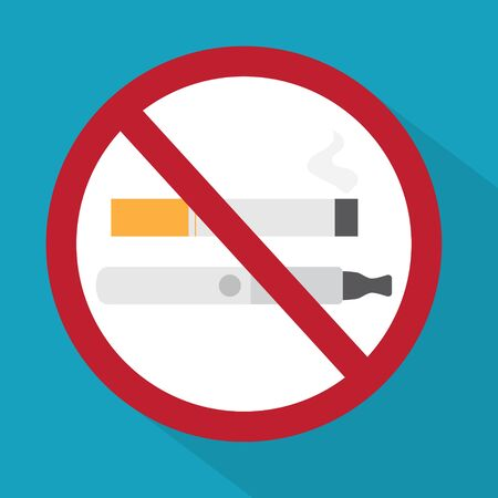 no smoking sign icon - vector illustration