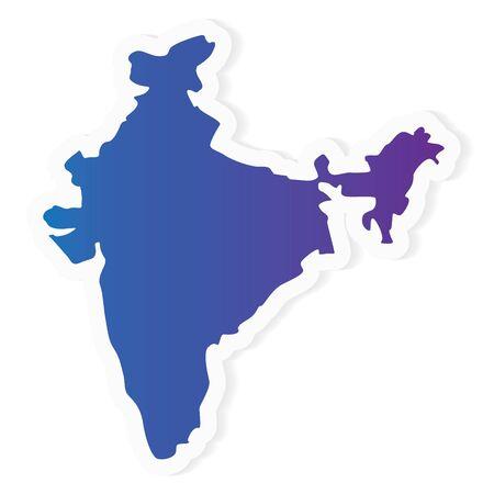 gradient India map - vector illustration