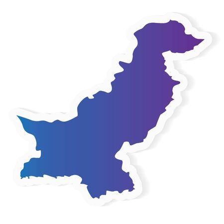 gradient Pakistan map - vector illustration Illustration
