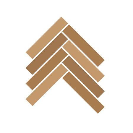 Icône de parquet en bois - illustration vectorielle Vecteurs