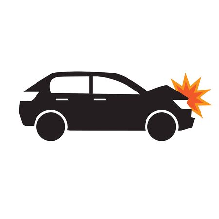 car accident icon- vector illustration