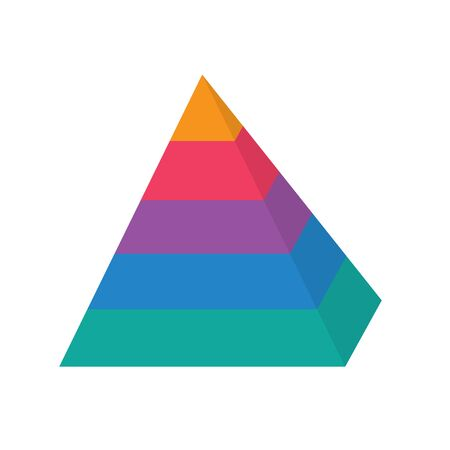 colorful level pyramid chart icon- vector illustration