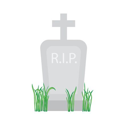grave, tombstone icon- vector illustration