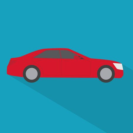 red car icon- vector illustration Illusztráció