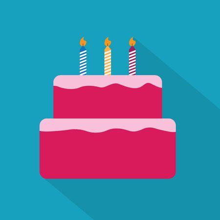 birthday cake icon- vector illustration