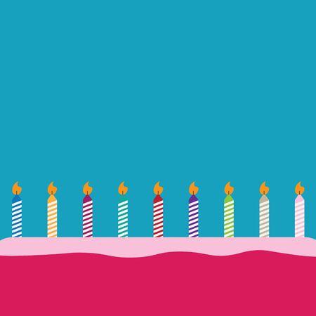 birthday cake background- vector illustration Ilustração