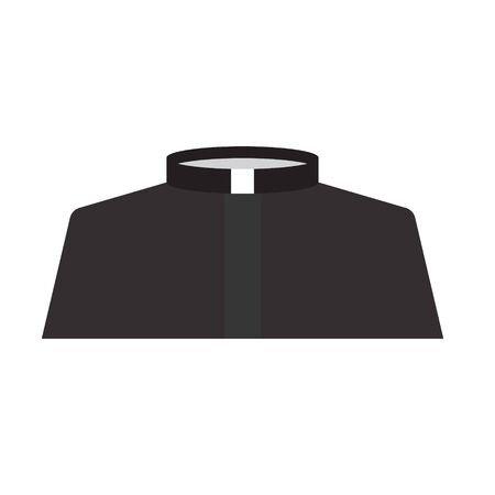catholic priest dress icon- vector illustration