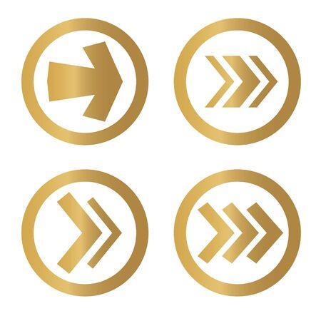 golden arrow icon- vector illustration Vektorové ilustrace
