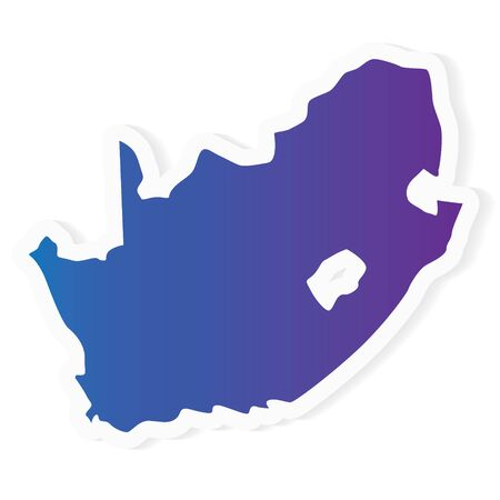 gradient South Africa map- vector illustration