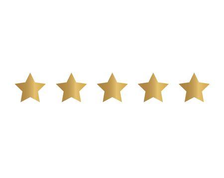icona di valutazione a cinque stelle - illustrazione vettoriale