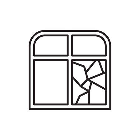 broken window icon- vector illustration Standard-Bild - 133532480