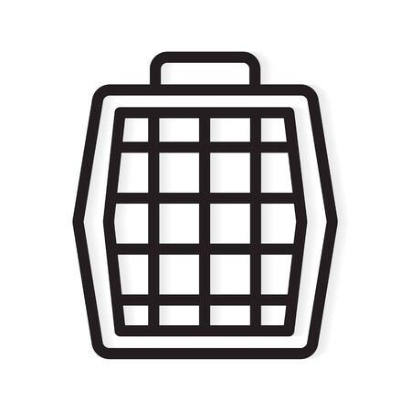 pet carrier box icon- vector illustration