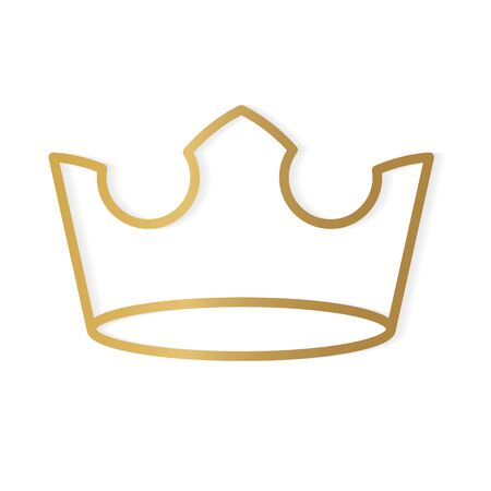 golden crown icon- vector illustration