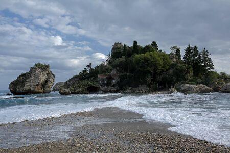 Isola Bella, small island in Mazzaro near Taormina, Sicily