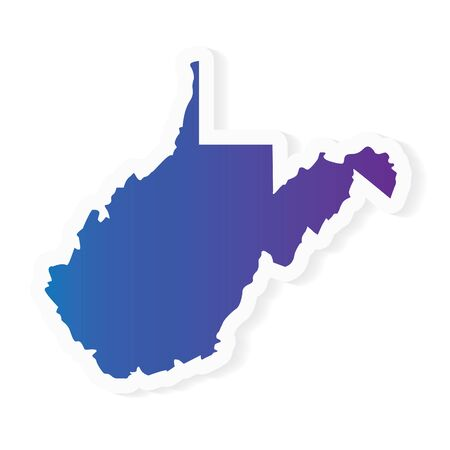 gradient West Virginia map - vector illustration Ilustrace