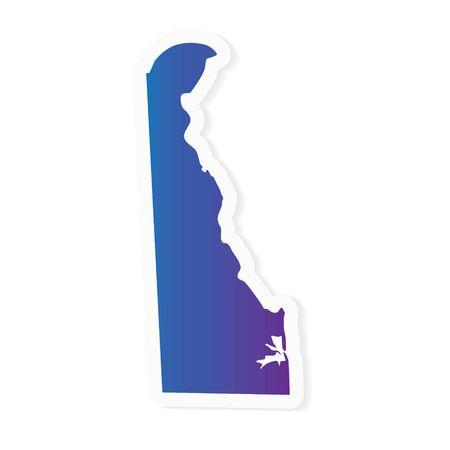 gradient Delaware map- vector illustration Ilustrace