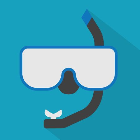 diving mask and tube icon- vector illustration