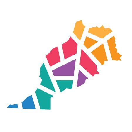 colorful geometric Morocco map- vector illustration Ilustración de vector