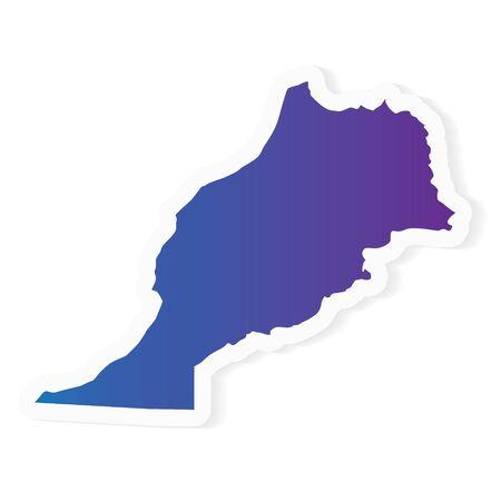 Gradiente de mapa de Marruecos- ilustración vectorial