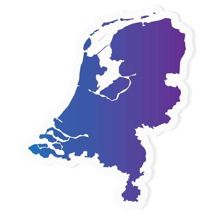 gradient Netherlands map- vector illustration