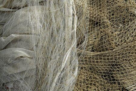white fishing nets background