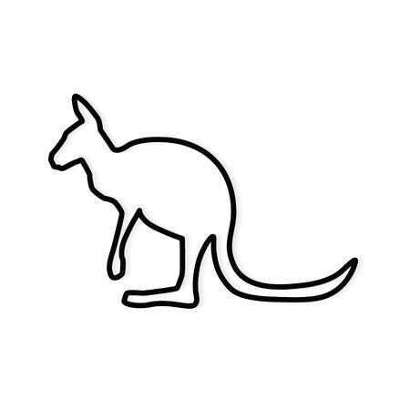 black kangaroo icon- vector illustration Vecteurs
