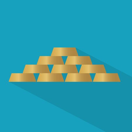 stack of gold bars- vector illustration 일러스트