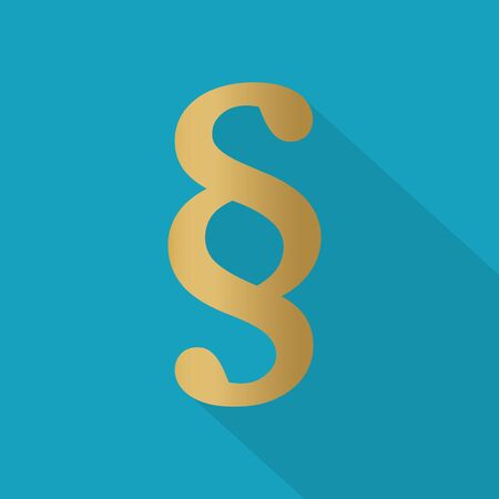 golden paragraph symbol- vector illustration 일러스트