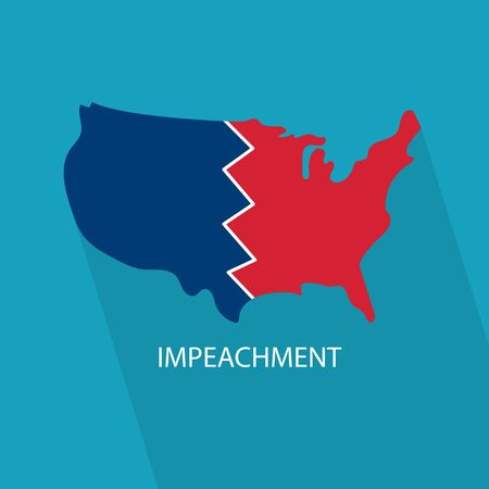 impeachment in United States concept- vector illustration