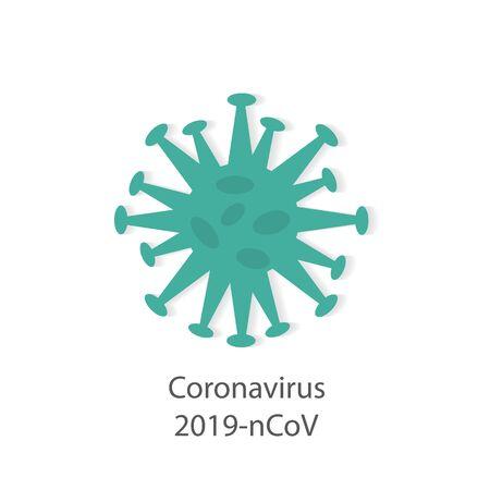 nowa koncepcja chińskiego wirusa koronowego 2019-nCoV - ilustracja wektorowa Ilustracje wektorowe
