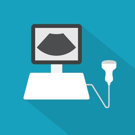 icône de diagnostic par ultrasons- illustration vectorielle